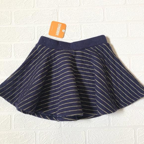 Gymboree Other - NWT Gymboree Gold Stripe Skater Skirt